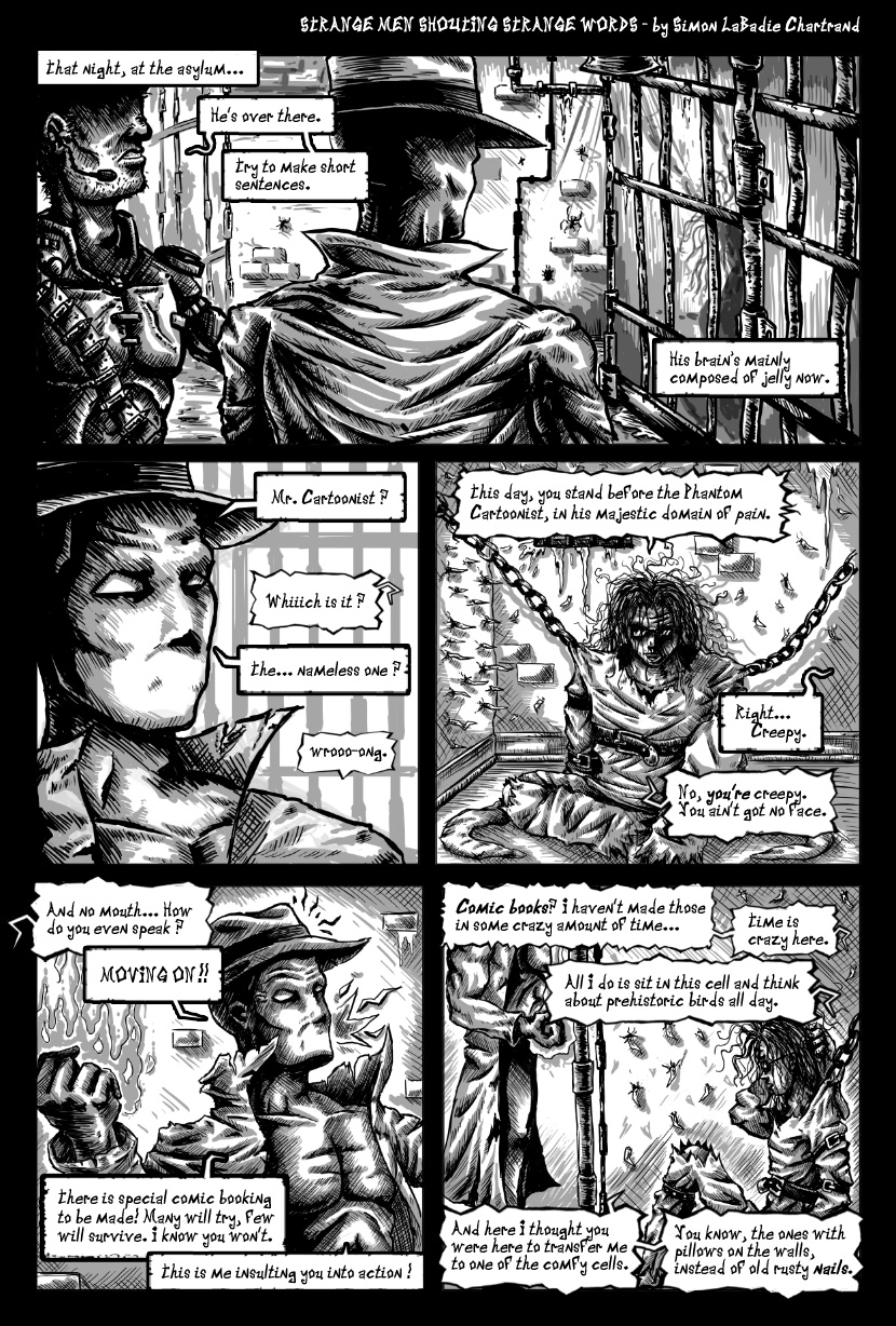 Strange Men Shouting Strange Words page1